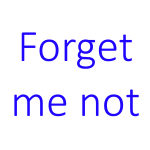 Logo Forget me not